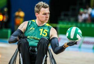 Rio 2016 - Wheelchair Rugby - Mixed Tournament - Australia v Japan - Andrew Harrison (1)
