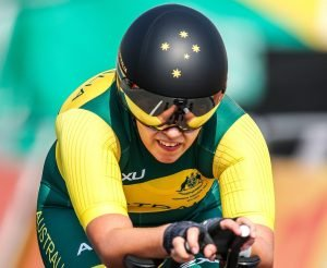Amanda Reid competing in Womens C1-2-3 on day 7 at Pontal Cycling road. 2016 Paralympic Games - RIO Brazil Australian Paralympic Committee Monday 12th September 2016 © Sport the library / Drew Chislett