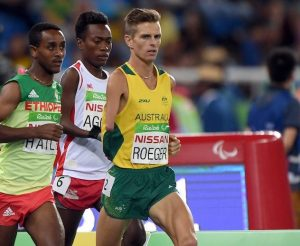 Michael Roeger – Men's 1500m T46  Bronze Olympic Stadium / Day 9 Athletics 2016 Paralympic Games - RIO Brazil Australian Paralympic Committee Rio Brazil  Friday 16th September 2016 © Sport the library / Jeff Crow