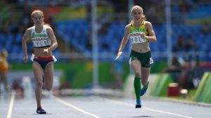 Isis Holt AUS wins Silver in the Women's 100m T35 Final. Athletics - Rio 2016 Paralympics  Games  September 14, 2017 Olympic Stadium, Rio de Janeiro, Brasil (Brazil) © Sport the library / Courtney Crow