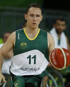 Tom O'neil-Thorne Australia vs Japan in the Men's Wheelchair Basketball Preliminary.  Carioca Arena 1 2016 Paralympic Games - RIO Brazil Australian Paralympic Committee Monday 12 September 2016 © Sport the library / Greg Smith
