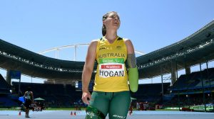Madeleine Hogan (AUS) - Javelin F46 Olympic Stadium / Day 6 Athletics 2016 Paralympic Games - RIO Brazil Australian Paralympic Committee Rio Brazil Tuesday 13 September 2016 © Sport the library / Jeff Crow