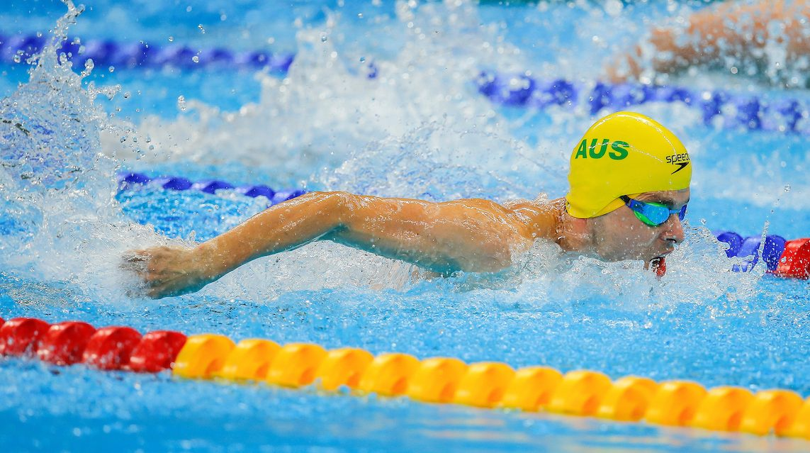 Levy clocks new world record at Swimming Nationals