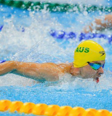 Levy clocks new world record at Swimming Nationals