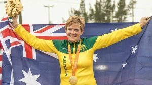 Carol Cooke wins GOLD in Womens time trial T1-2 on day 7 at Pontal Cycling road. 2016 Paralympic Games - RIO Brazil Australian Paralympic Committee Wednesday 14th September 2016 © Sport the library / Drew Chislett