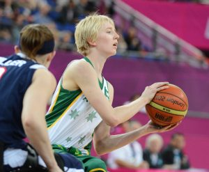 Amber Merritt (AUS) Women's Australia vs. USA in the semi-final Wheelchair Basketball (Thurs 6th Sept) - North Greenwhich Arena Paralympics - Summer / London 2012  London, England 29 Aug - 9 Sept © Sport the library/Courtney Crow