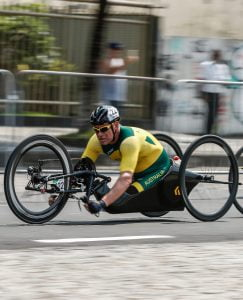 Stuart Tripp competing in the Men's Road Race H5 Pontal  2016 Paralympic Games - RIO Brazil Australian Paralympic Committee Thursday 15 September 2016 © Sport the library / Greg Smith