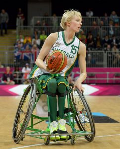 Amber Merritt (AUS) Australia v Canada, Women's Wheelchair Basketball (Saturday 1st September 2012) - Day03, Basketball Arena,Paralympics - Summer / London 2012, London, England 29 Aug - 9 Sept , © Sport the library/Jeff Crow
