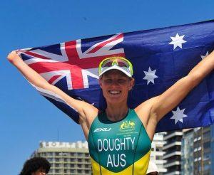 Kate Doughty (AUS) Women's PT4 Triathlon. Triathlon - September 11, 2016 Fort Copacabana, Rio de Janeiro, Brasil (Brazil) Courtney Crow / Sport the library