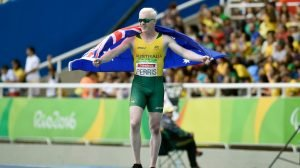 Chad Perris (AUS) Bronze medal Men's 100m T13 Olympic Stadium / Day 2 / Aths 2016 Paralympic Games - RIO Brazil Australian Paralympic Committee Rio Brazil  Friday 9 September 2016 © Sport the library / Jeff Crow