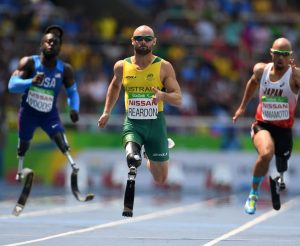 Scott Reardon Men's 100m T42 Heat 2 Athletics - Rio 2016 Paralympics  Games  September 14, 2017 Olympic Stadium, Rio de Janeiro, Brasil (Brazil) © Sport the library / Courtney Crow