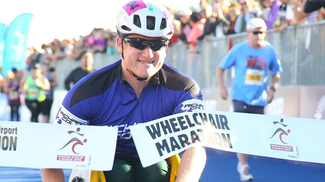 Colman victorious in wheelchair marathon on Gold Coast