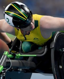 Angela Ballard – Women's 1500m T54  Olympic Stadium / Day 5 Athletics 2016 Paralympic Games - RIO Brazil Australian Paralympic Committee Rio Brazil Monday 12  September 2016 © Sport the library / Jeff Crow
