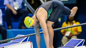 Monique Murphy finishes 5th in the womens 50m freestyle S10 on day two at Olympic Aquatic Stadium. 2016 Paralympic Games - RIO Brazil Australian Paralympic Committee Thursday 8th September 2016 © Sport the library / Drew Chislett