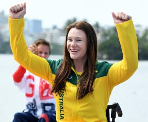 Susan Seipel – Women's KL2  Bronze Medal Olympic Stadium / Day 8 Para Canoe 2016 Paralympic Games - RIO Brazil Australian Paralympic Committee Rio Brazil   Thursday 15th September 2016 © Sport the library / Jeff Crow
