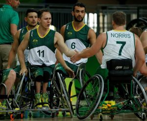 Australia vs Japan in the Men's Wheelchair Basketball Preliminary.  Carioca Arena 1 2016 Paralympic Games - RIO Brazil Australian Paralympic Committee Monday 12 September 2016 © Sport the library / Greg Smith