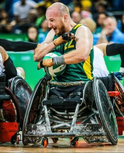 Rio 2016 - Wheelchair Rugby - Mixed Tournament - Australia v Brazil - Matt Lewis (3)