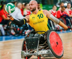 Australia vs Great Britain in the Wheelchair Rugby (Group A).  Carioca Arena 1 2016 Paralympic Games - RIO Brazil Australian Paralympic Committee Wednesday 14 September 2016 © Sport the library / Greg Smith