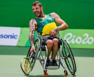 Heath Davidson - Australian Wheelchair Tennis practice 2016 Paralympic Games - RIO Brazil Australian Paralympic Committee Tuesday 6 September 2016 © Sport the library / Greg Smith