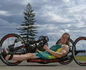 RIO 2016 APC Para-Triathlon Team Announcement at the Coolangatta SLSC with athlete Nic Beveridge Australian Paralympic Committee Coolangatta SLSC Qld QLD Wednesday 3rd August 2016 © Sport the library / Jeff Crow