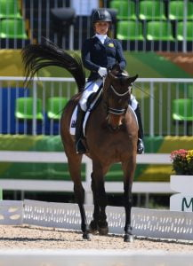 Emma Booth (AUS) competes in the Team Test. Equestrian - September 13, 2016 Olympic Equestrian Centre, Rio de Janeiro, Brasil (Brazil) Courtney Crow / Sport the library