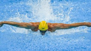 Brenden Hall competes in the Mens 4x100m medley relay final on day 10 at the Olympic Aquatics Stadium. 2016 Paralympic Games - RIO Brazil Australian Paralympic Committee Saturday 17th September 2016 © Sport the library / Drew Chislett