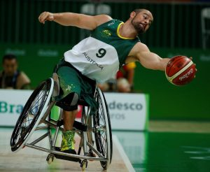 Tristian_Knowles_Australia vs Japan in the Men's Wheelchair Basketball Preliminary.  Carioca Arena 1 2016 Paralympic Games - RIO Brazil Australian Paralympic Committee Monday 12 September 2016 © Sport the library / Greg Smith