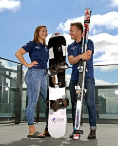 (L-R) Joany Badenhorst and Mitch Gourley  are named the joint Team Captains for the  2018 Winter Paralympic Games in South Korea. Shot on location at PWC Melbourne Monday October 23rd  2017 © Explorer-Media / Jeff Crow