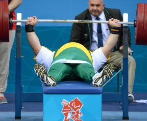 Darren Gardiner (AUS)  Powerlifting : Men's +100kg ExCeL - South Arena 3 (Wednesday 5 Sept) Paralympics - Summer / London 2012 London England 29 Aug - 9 Sept  © Sport the library / Jeff Crow