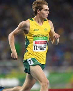 James Turner AUS wins Gold in the Men's 800m T36 final. Athletics - Rio 2016 Paralympics  Games  September 17, 2017 Olympic Stadium, Rio de Janeiro, Brasil (Brazil) © Sport the library / Courtney Crow