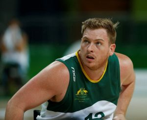 Matthew McShane Australia vs Japan in the Men's Wheelchair Basketball Preliminary.  Carioca Arena 1 2016 Paralympic Games - RIO Brazil Australian Paralympic Committee Monday 12 September 2016 © Sport the library / Greg Smith