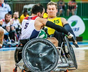 Rio 2016 - Wheelchair Rugby - Mixed Tournament - Australia v United States - Andrew Harrison (2)