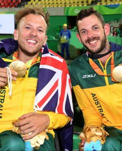 Quad Double final / Dylan Alcott and Heath Davidson (AUS) GOLD  Olympic Stadium / Day 6 Tennis 2016 Paralympic Games - RIO Brazil Australian Paralympic Committee Rio Brazil Tuesday 13 September 2016 © Sport the library / Courtney Crow