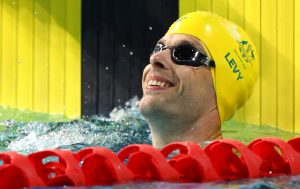 An image of Matthew Levy in the pool