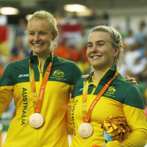 An image of Jessica Gallagher and Madison Janssen with their medals