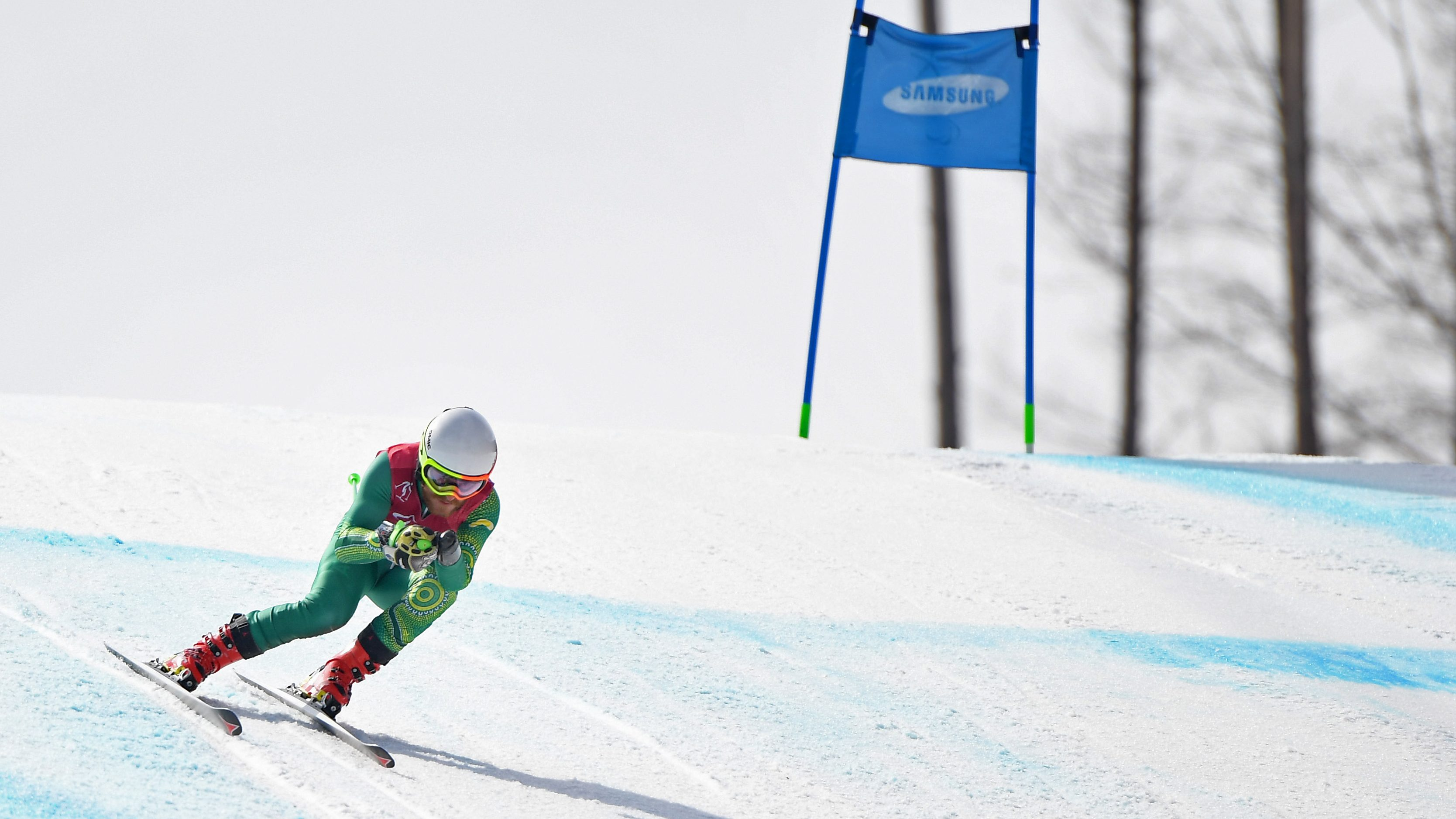 Australian Para-alpine skiers hit the slopes for the first time in PyeongChang