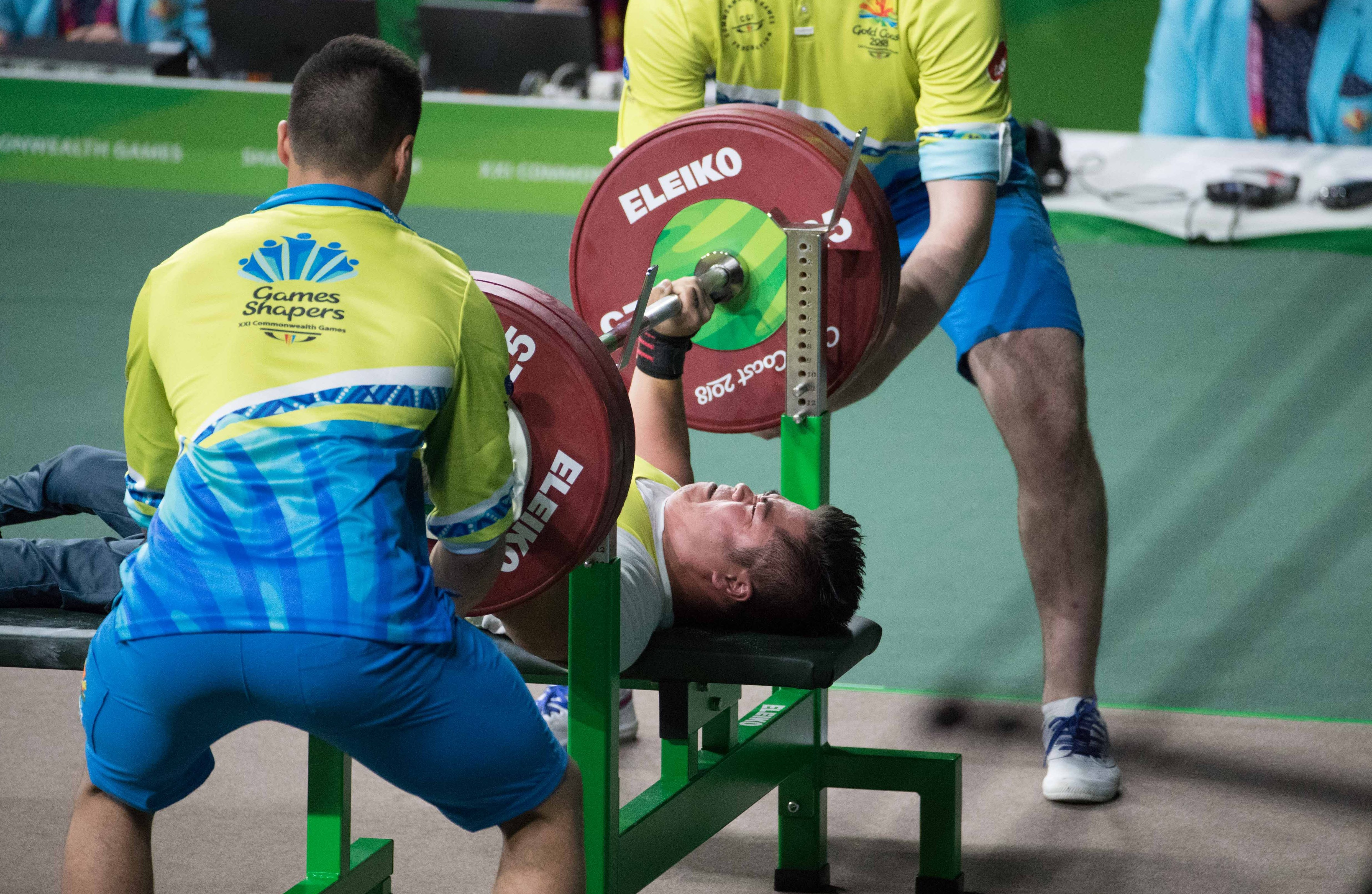 Para-powerlifters front and centre at Gold Coast 2018