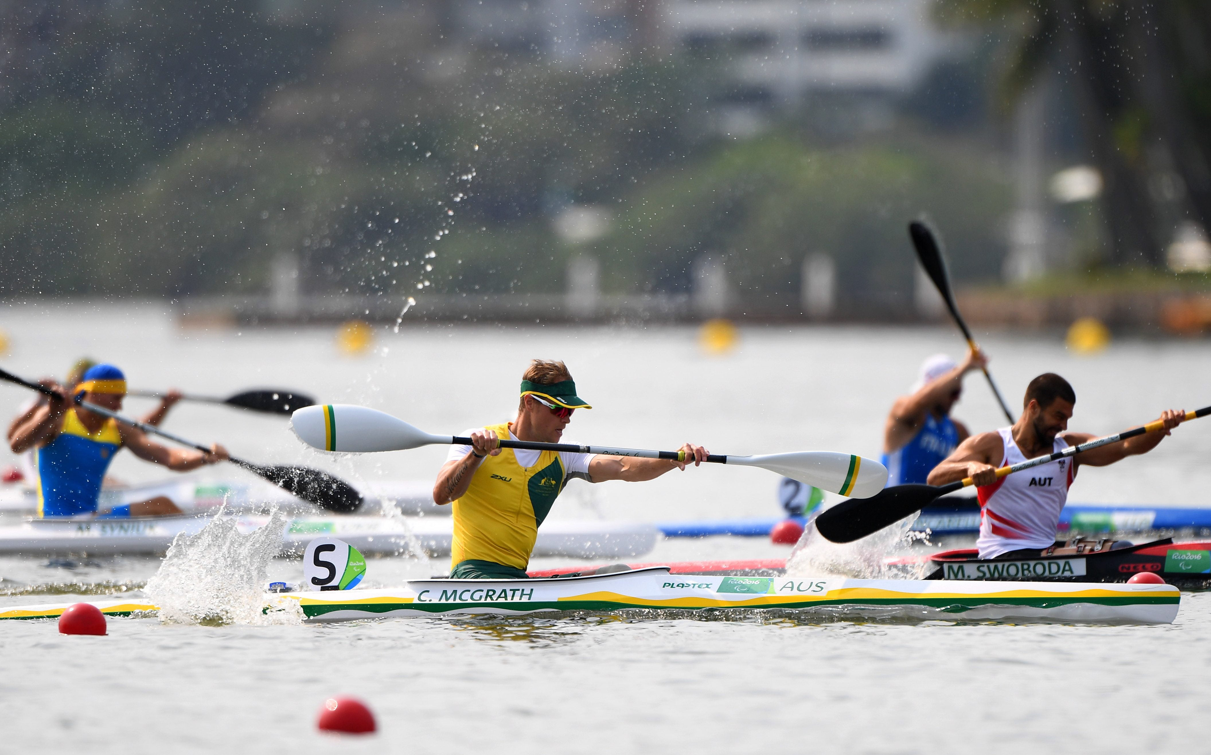 McGrath shows his class at Para-canoe World Cup