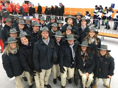Australians dazzle in stockmen's Opening Ceremony outfits