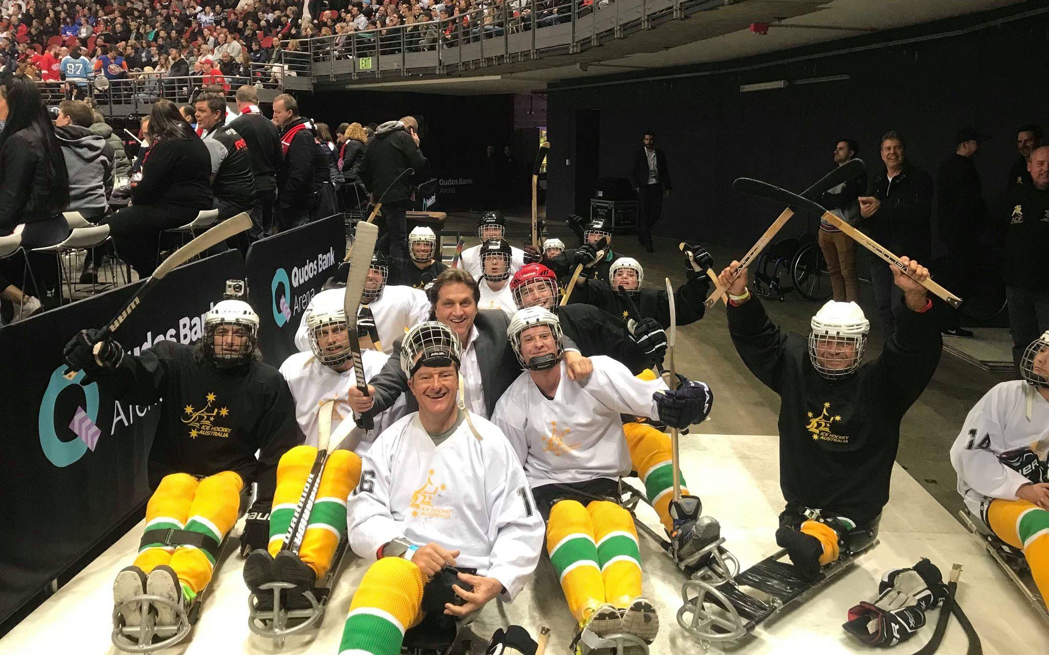 Para-ice hockey stars put on a show in Sydney