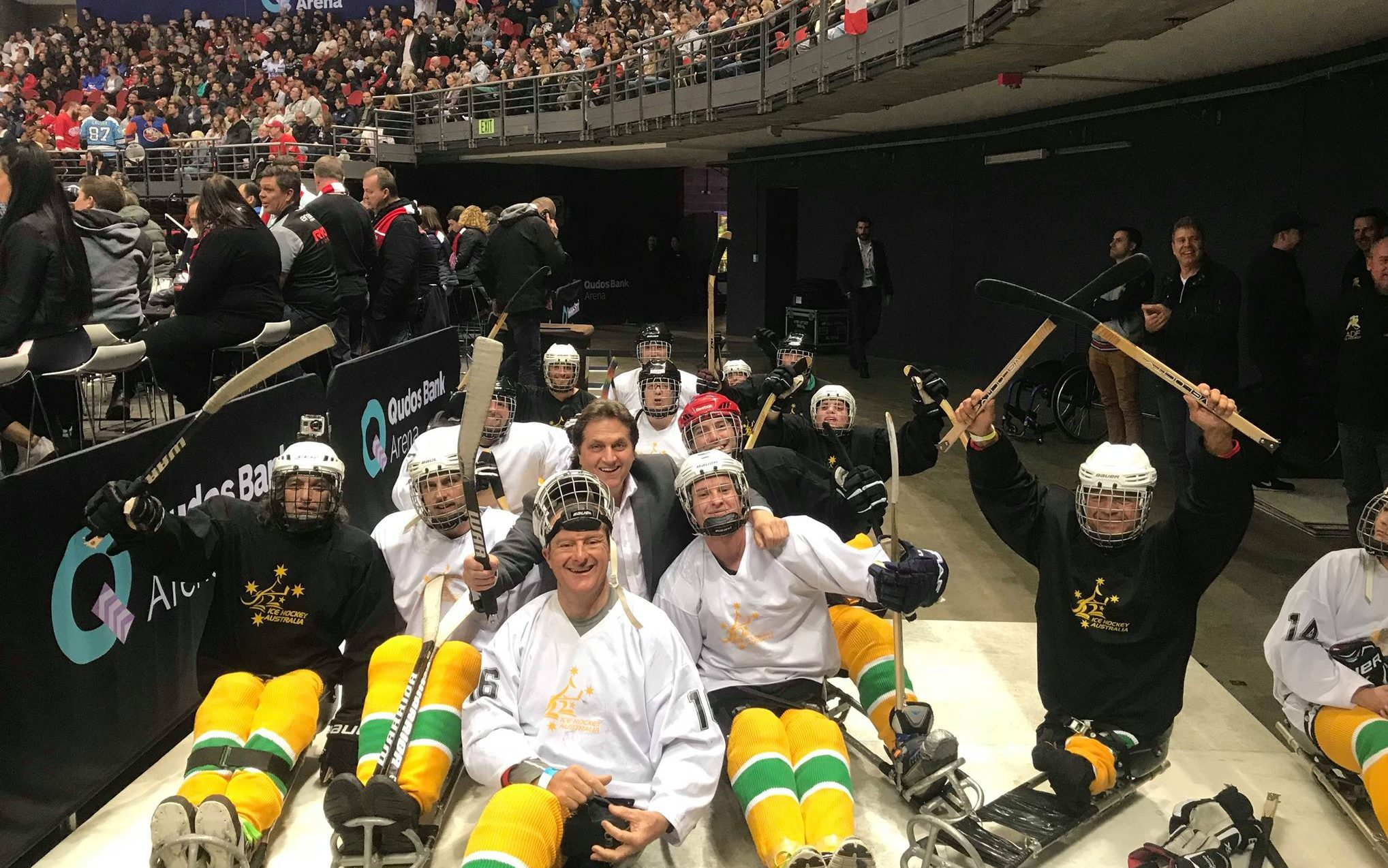 Para-ice hockey stars put on a show in Sydney