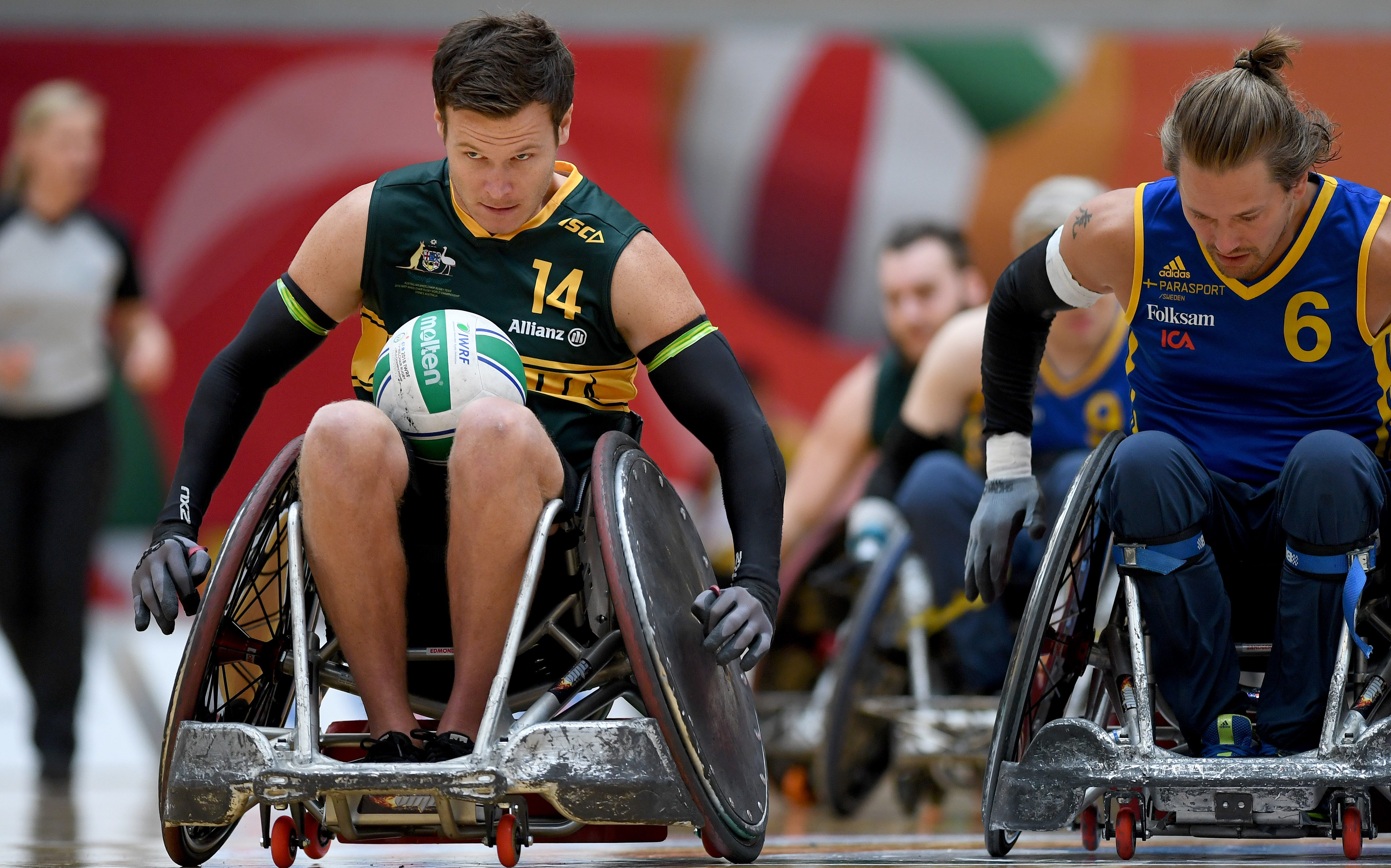 Steelers thrash Sweden to roll on at Wheelchair Rugby World Championships