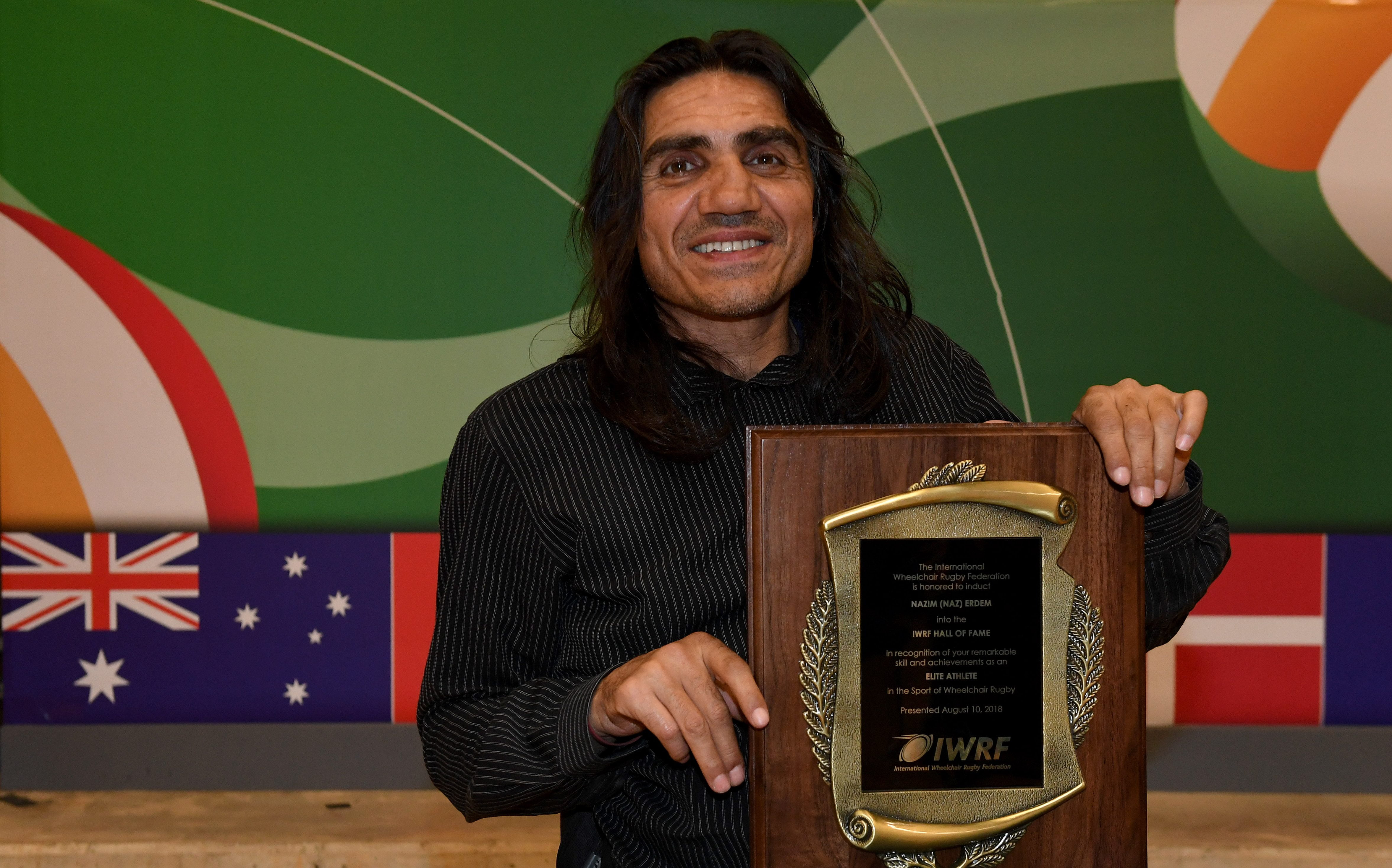 Wheelchair rugby icon honoured with IWRF Hall of Fame induction
