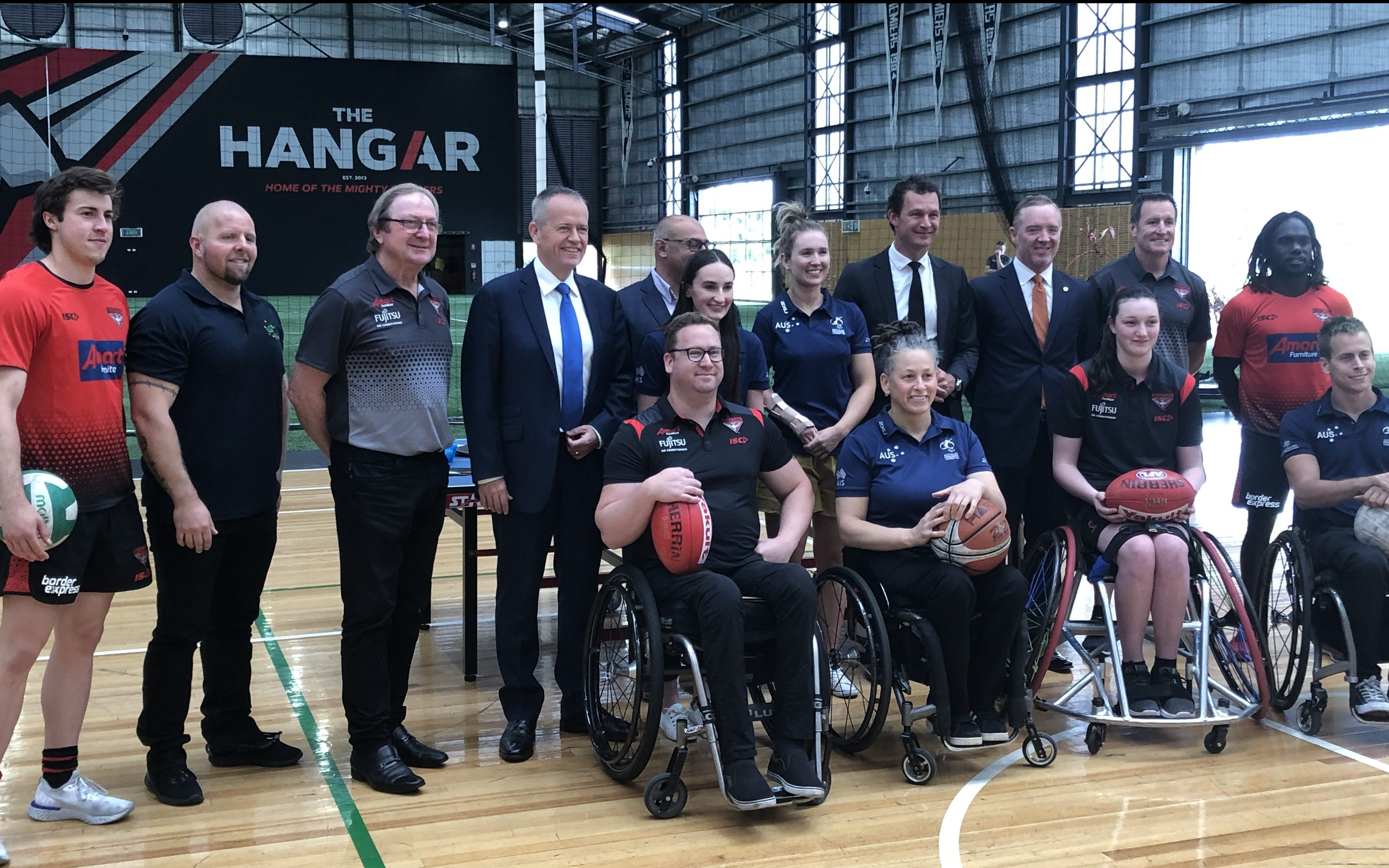 Bombers & APC welcome commitment to Paralympic athletes and enhanced community facilities at The Hangar