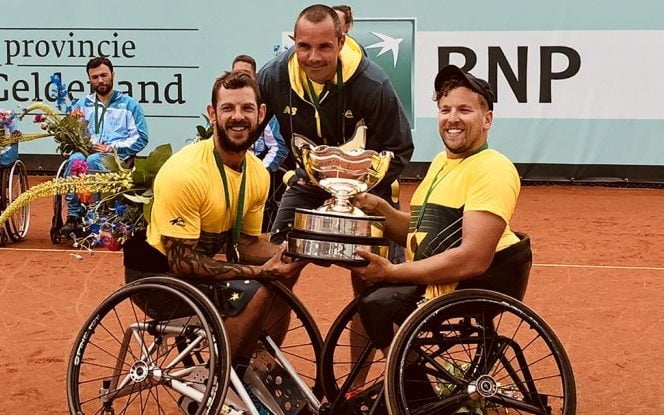 Balancing act for wheelchair tennis coach Vogelsberger