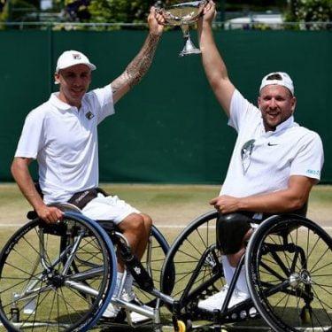 Alcott wins Wimbledon quad doubles title