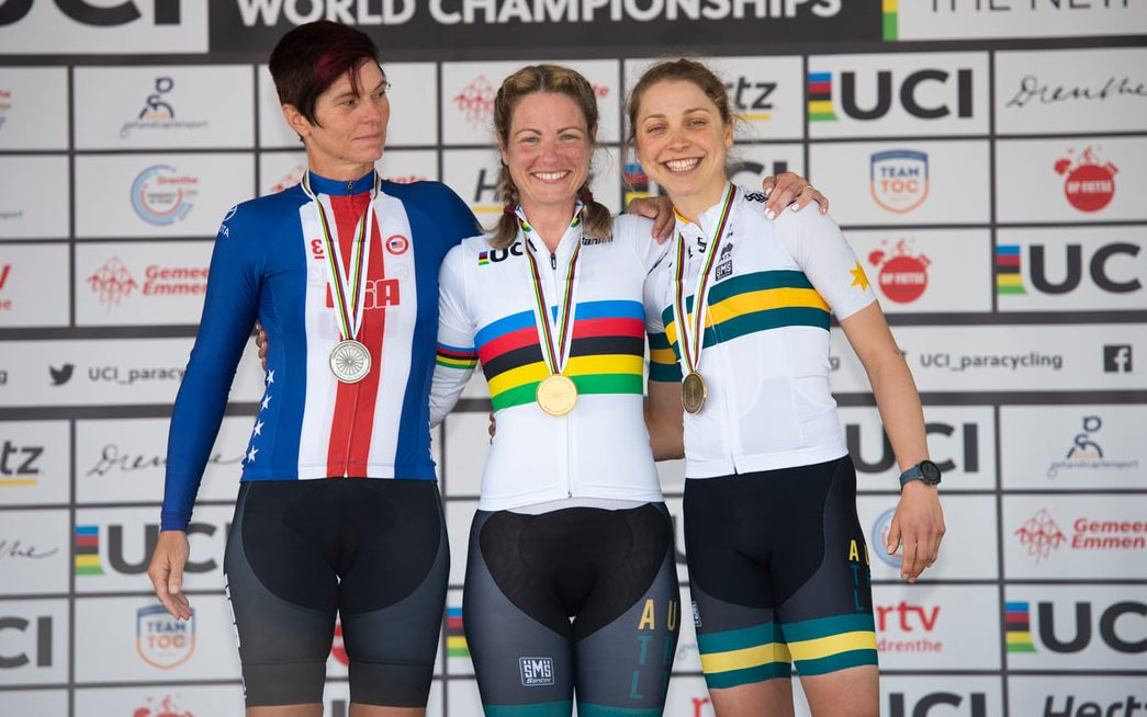 Five rainbow jerseys for Australian Para-cyclists on day one