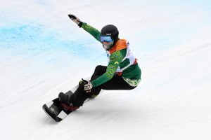 An image of Ben Tudhope while snowboarding
