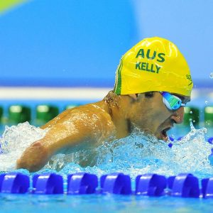 An image of Ahmed Kelly in action during swimming