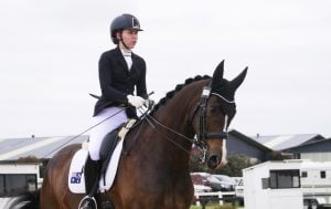 Image of a female athlete on a horse